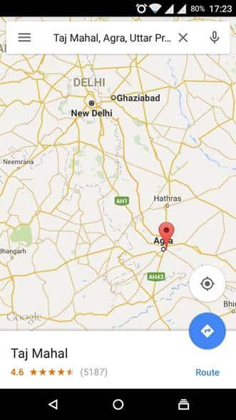 Google offline maps screenshot1