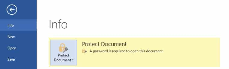 protected word document