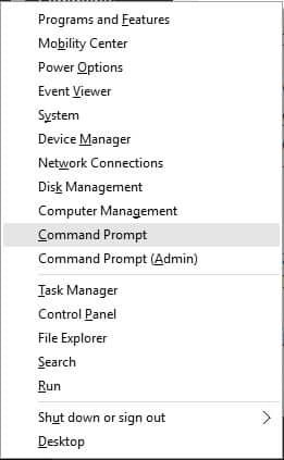Command Prompt Options