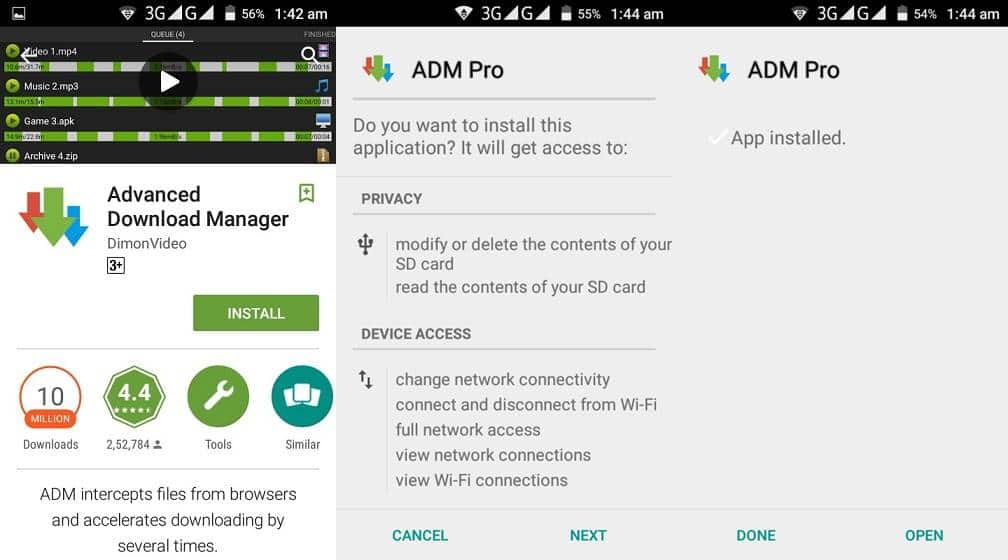 install advanced download manager