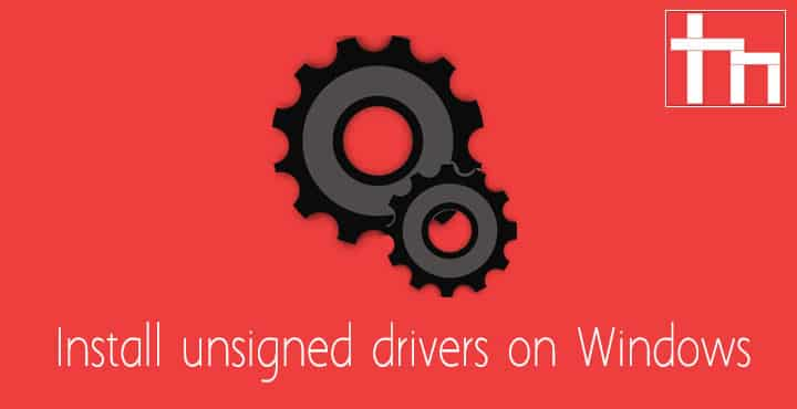 unsigned drivers windows 10