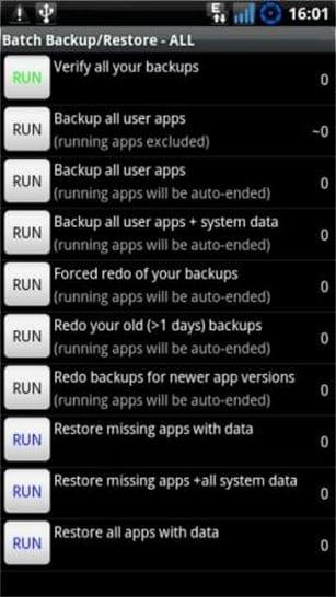 Backup User Apps+System Data
