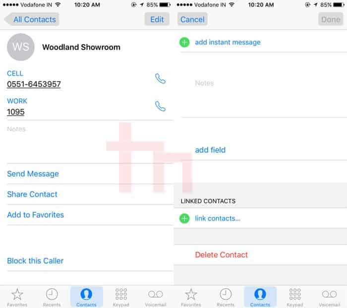 Deleting Single Contacts on iPhone