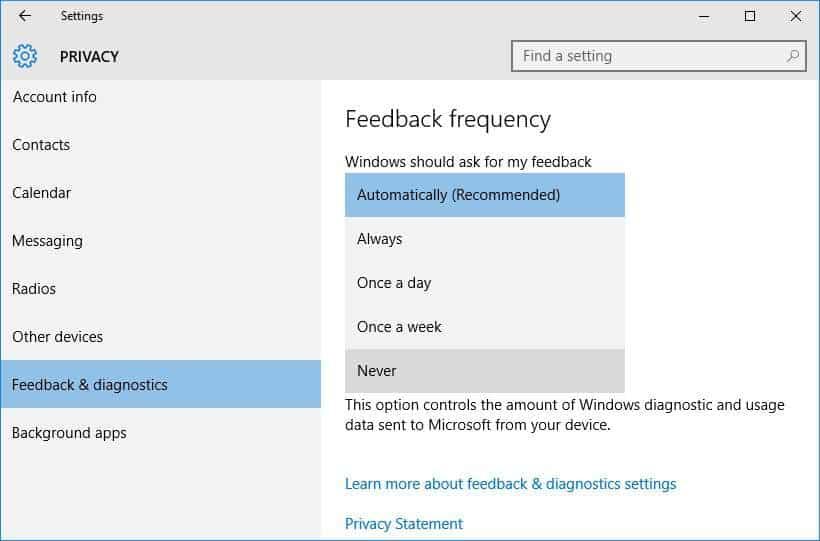 never-feedback-window