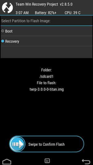 flash twrp image