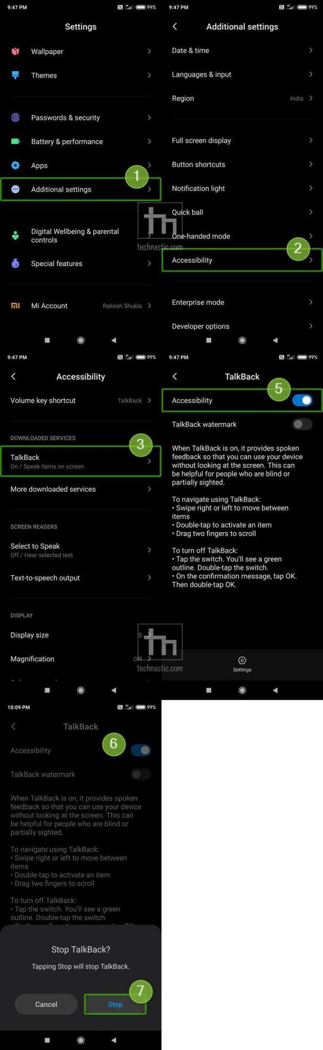 turn off talkback on xiaomi devices
