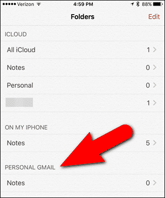 Sync iOS 9 Notes With Gmail - 3