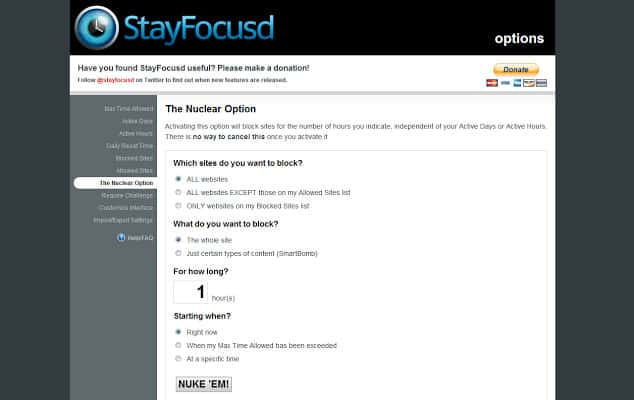 stay focused chrome extension