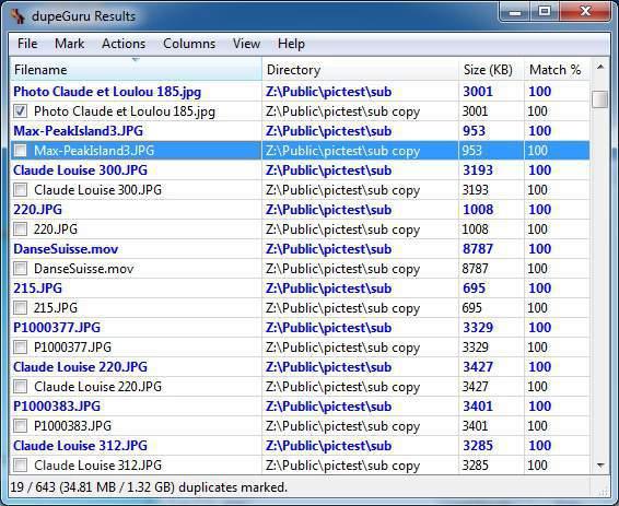 DupeGuru duplicate files