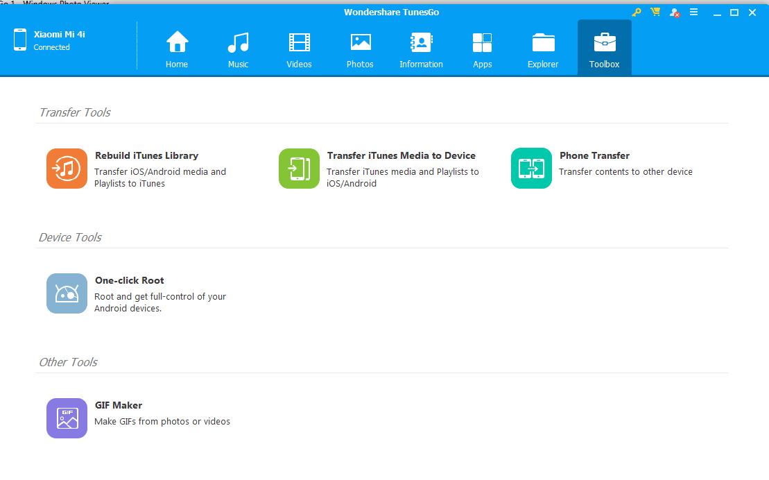 Wondershare TunesGo Features