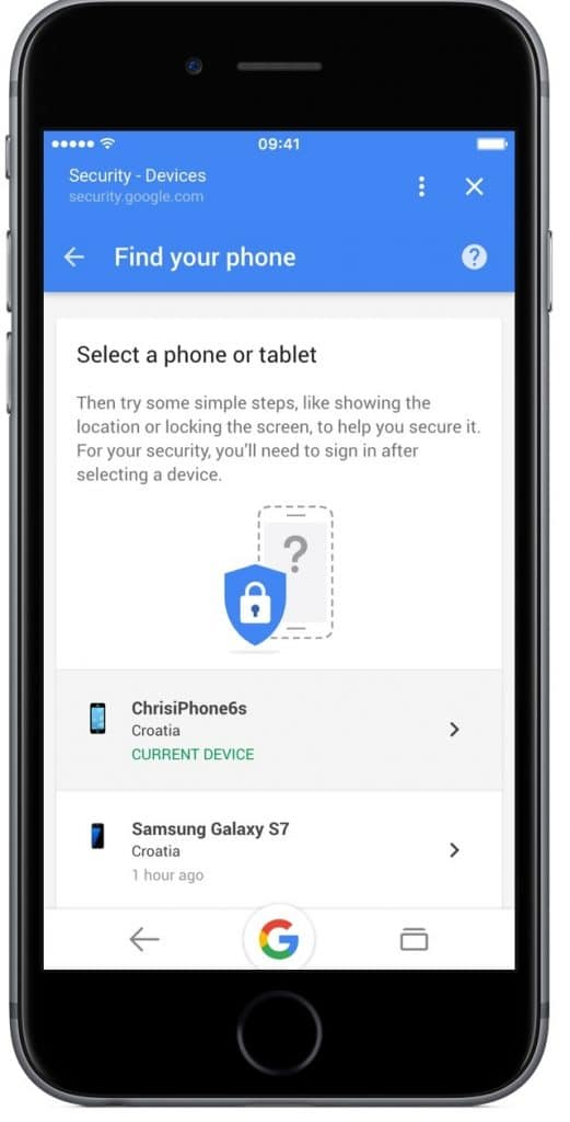 find your phone on android