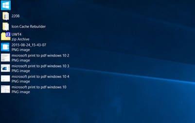 desktop icon list view