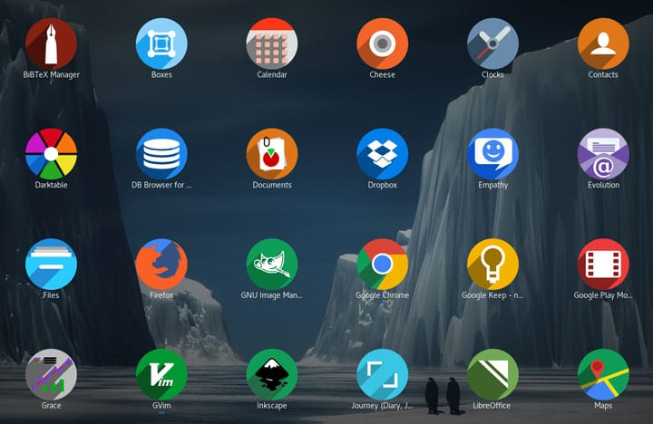 Ubuntu 17.10 shadow icon theme
