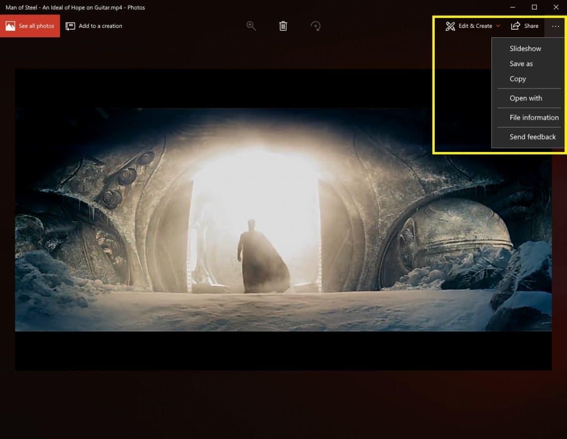 slow motion effect in videos windows 10