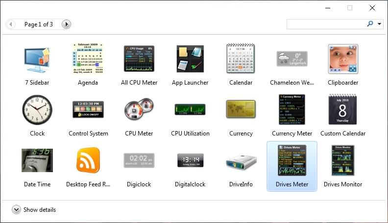 windows gadgets pack