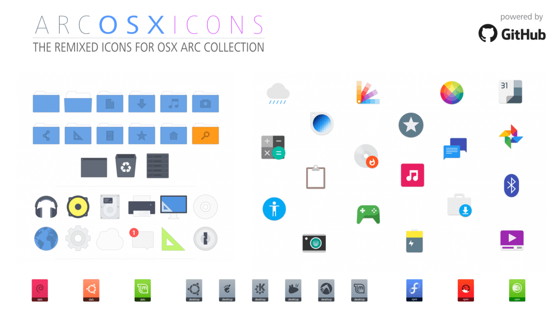 Arc-OSX Icons linux