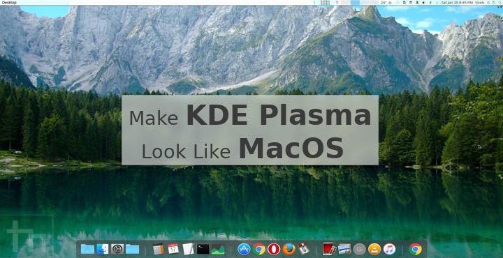 KDE Plasma macos theme