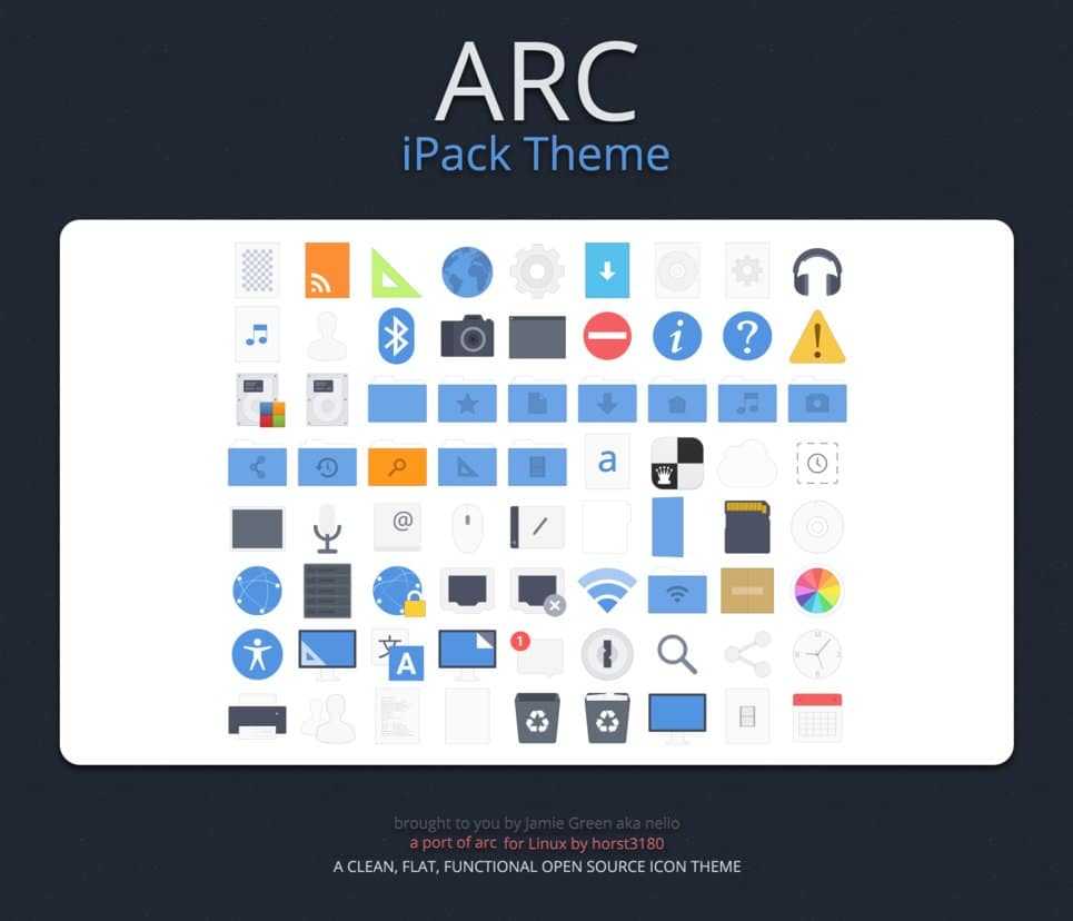 Arc iPack free icon pack windows