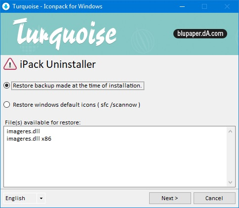icon pack uninstaller windows