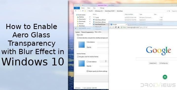 Windows 10 Aero Glass Transparency