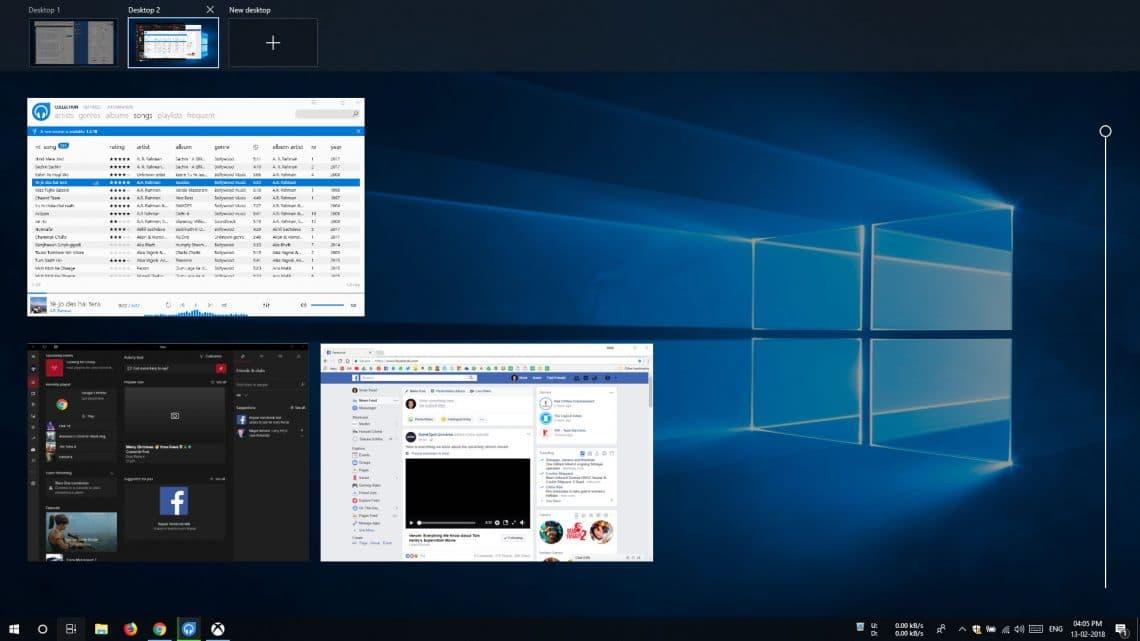 virtual desktop windows 10
