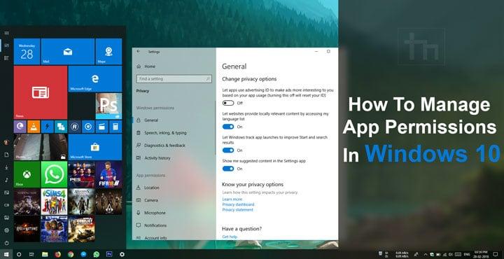 windows 10 app permissions