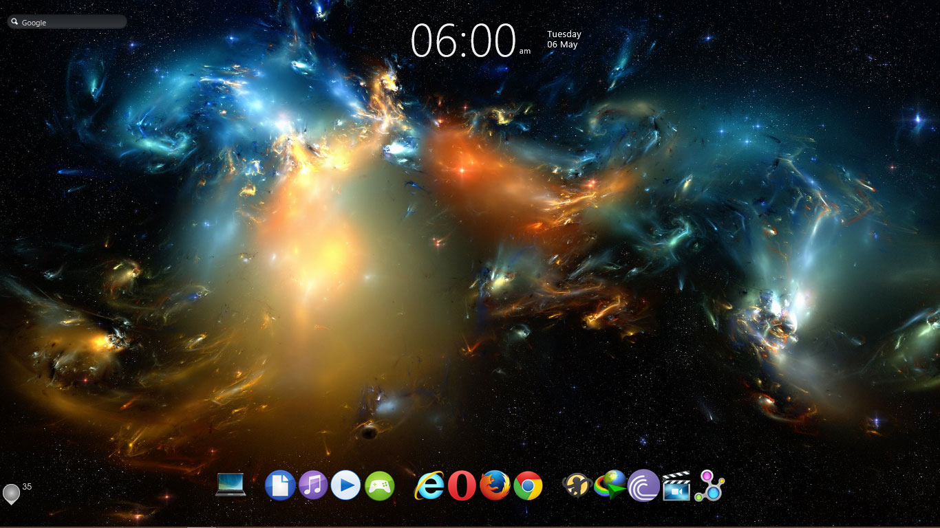 Windows 10 taskbar transparency effect