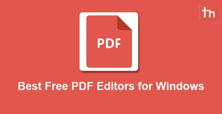 Best Free PDF Editors for Windows