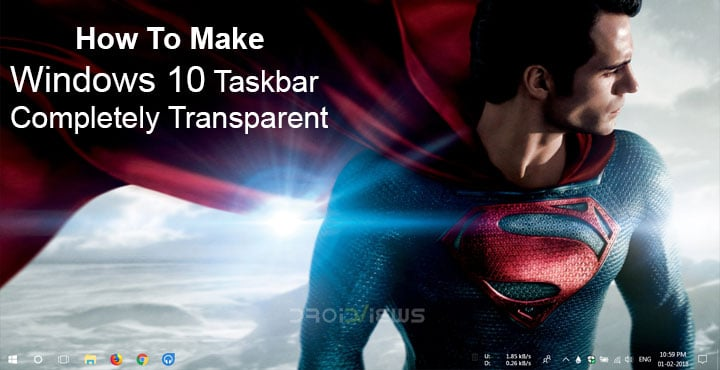 transparent taskbar windows