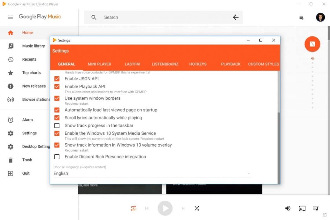 Install Google Play Music Desktop Player On Your PC