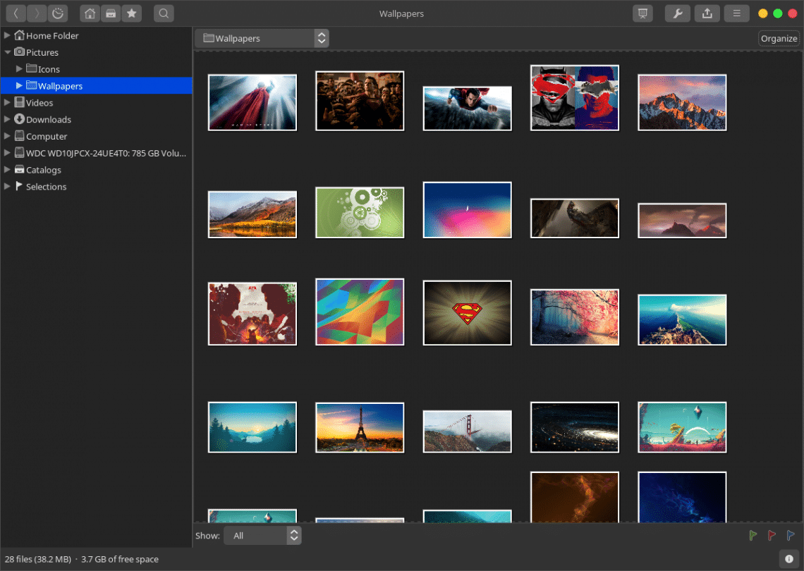 gthumb photo manager linux