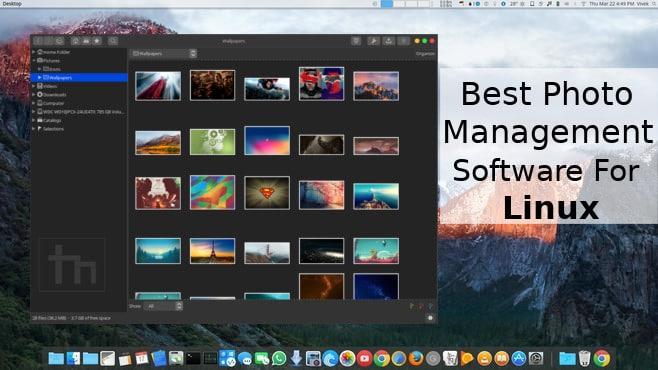 photo management apps linux