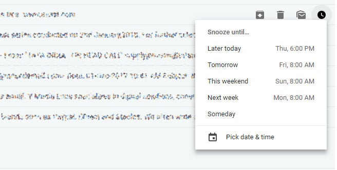 snooze reminders in gmail