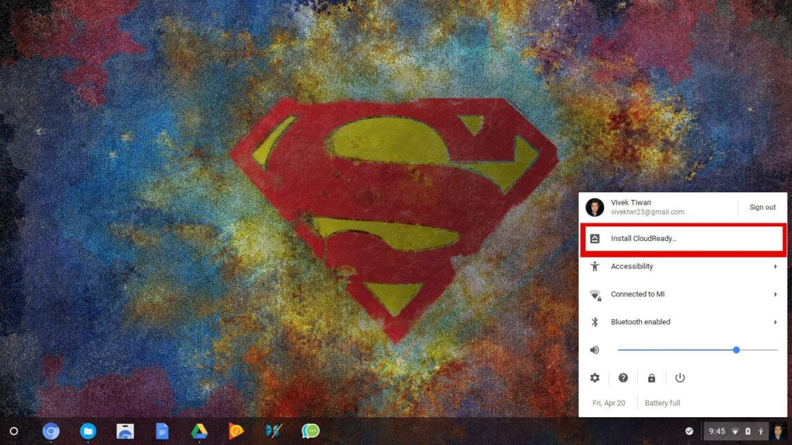 Cloudready on Chrome OS