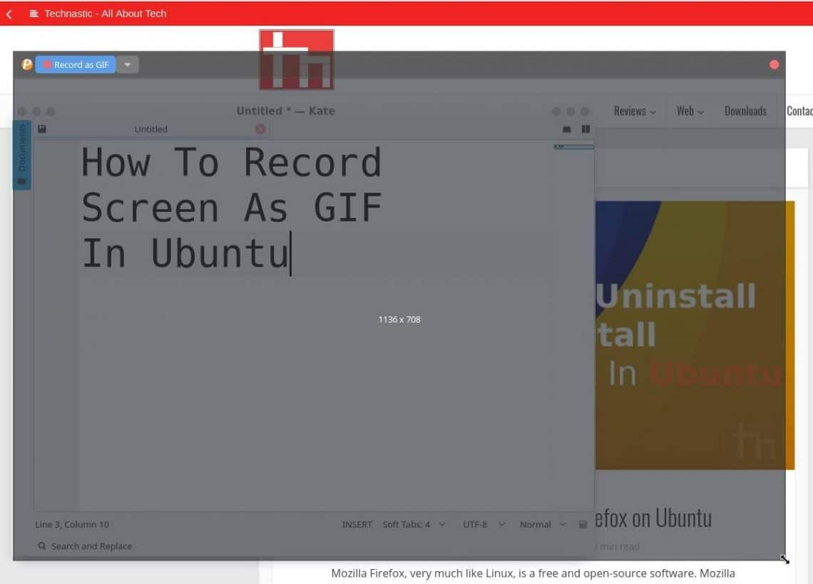 How To Record Screen As GIF In Ubuntu