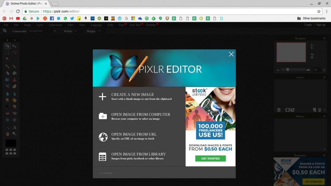 Pixlr Editor chromebook