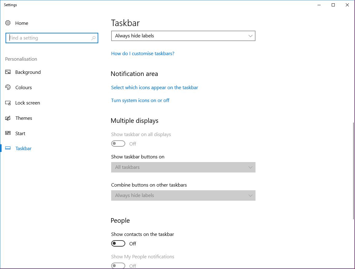 customize windows taskbar notification