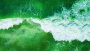 green ocean wallpaper