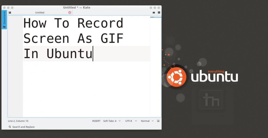 How To Record Screen As GIF In Ubuntu