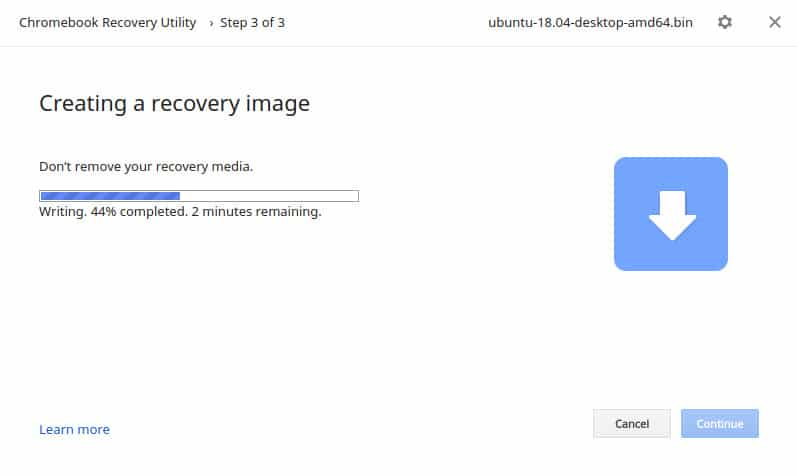 create recovery image