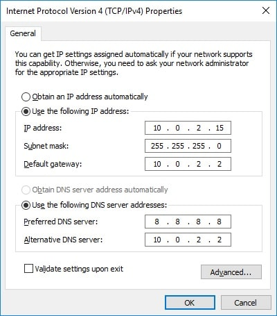 How To Set A Static IP Address On Windows