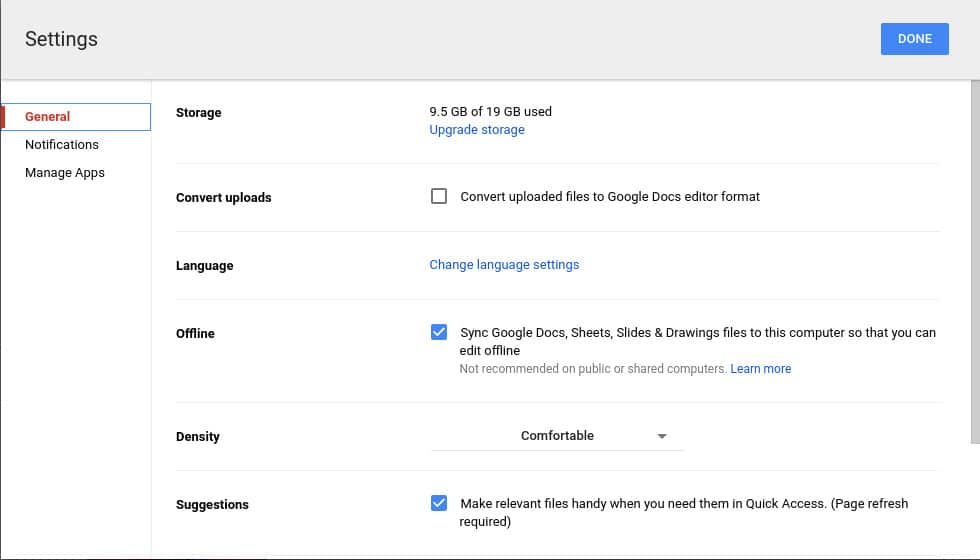 Offline Google Drive on Chrome OS