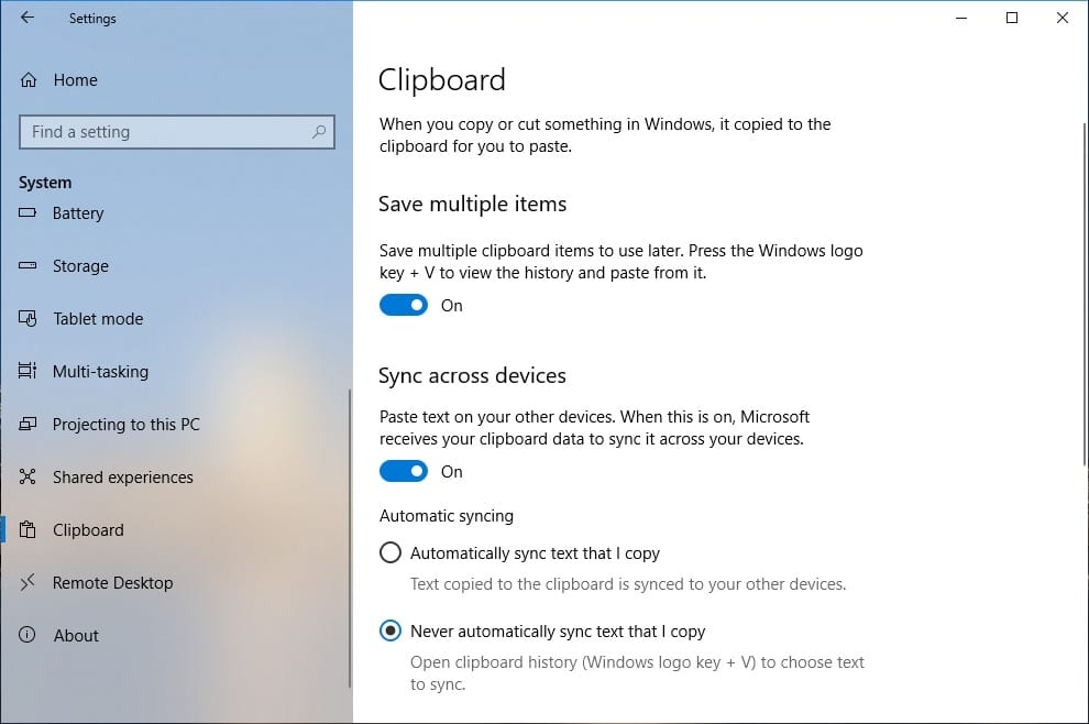 How To Use Windows 10 Clipboard History