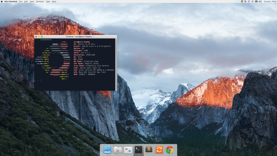 macos theme for xfce