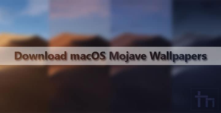 macOS Mojave Wallpapers