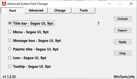 change fonts windows 10