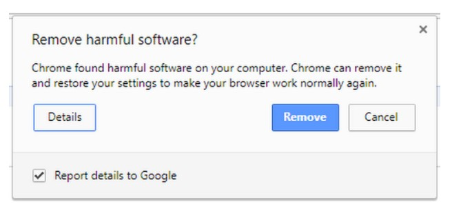 remove harmful software chrome