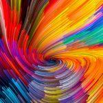 Mojave Beta 5 colorful lines wallpaper