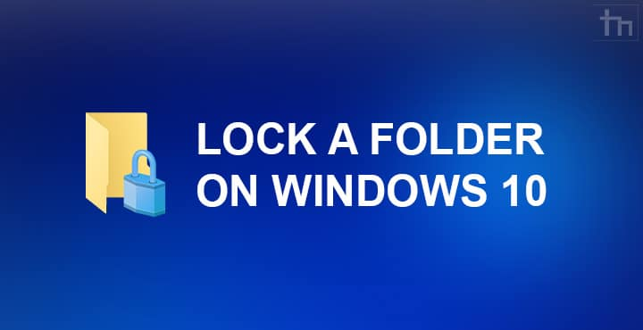 windows 10 folder lock