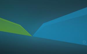 Xubuntu 18.04 green blue wallpaper